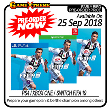 [Pre-Order] PS4 / Switch / Xbox One FIFA 19 Normal Edition Special Early Bird Price. Collection / Shipping from 25th September Onwards!