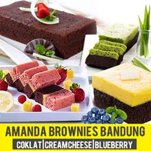 Amanda brownies bandung - Aneka brownies original coklat-KUKUS CREAM CHEESE-BLUEBERRY-SARIKAYA PANDA