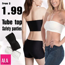 【Tube top / Safety panty】ALA TREND◆Bandeau tube top/Seamless tube top/Seamless safety panties
