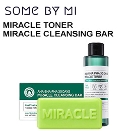 Somebymi / iFactory ★ AHA BHA PHA 30 Days Miracle Cleansing Bar / Toner / Killing Coverst Cushion