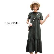 TOKICHOI - Dotted Frill Hem Dress-180021