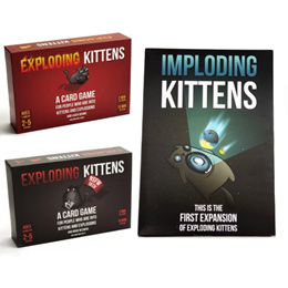 Exploding Kittens Imploding Card Game Puzzle Board Games Party Adult Kids Toys CAH