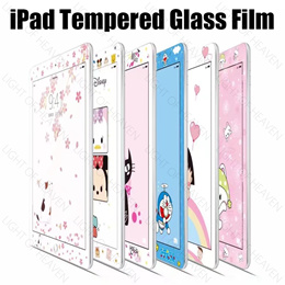 ipad mini 4 3 2 air 2 pro 9.7 2017 tempered glass screen protector film cartoon soft full cover ipad