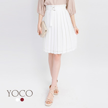YOCO - Pleated Belted Skirt-171720-Winter