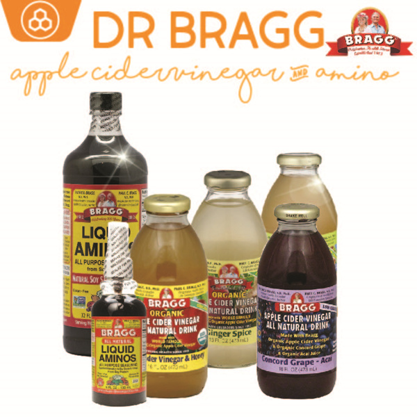 Product of USA Certified Organic Non-GMO Dr. Bragg Apple Cider Vinegar Honey/Ginger Spice/Concord Deals for only S$18 instead of S$0
