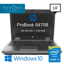 [Refurbished] HP Probook 6470B/ Intel I5 3rd GEN/ 4GB RAM/ 500GB HDD/ 30DaysWarranty/ Windows10 Pro