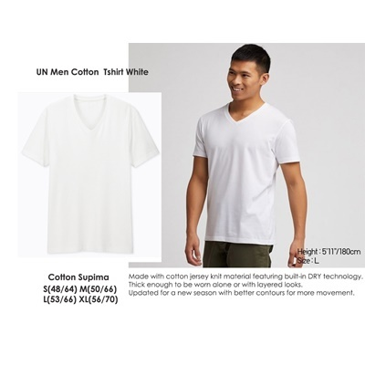 UN Men Tshirt White
