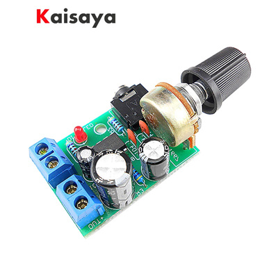 LM386 mini Audio Power Amplifier Board With Volume Adjustment DC3-12V For  0 5-10W Audio Speaker