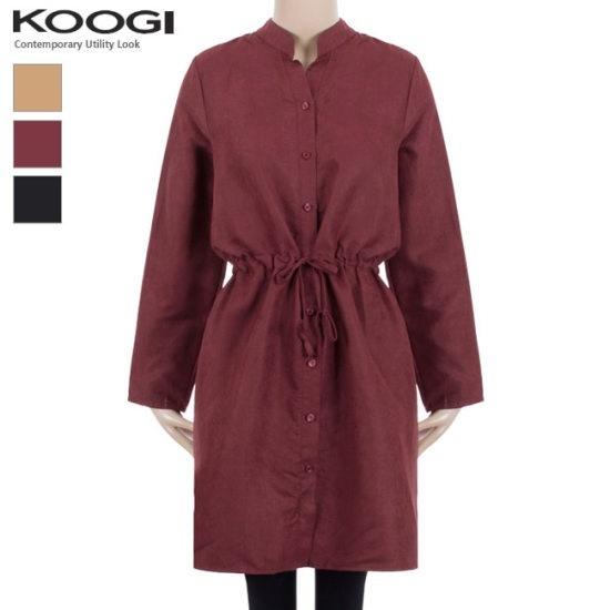 釘宮チャイナストリングワンピースKK3OP3167A 綿ワンピース/ 韓国ファッション