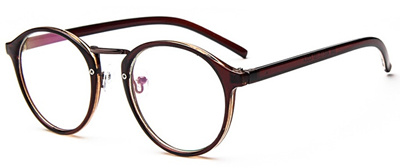 27cb6a30b4f1 online 2018 Transparent round glasses clear frame Women Spectacle myopia  glasses Men EyeGlasses Fra