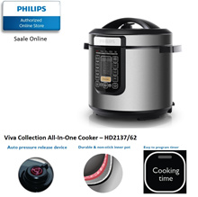Philips Viva Collection All-In-One Cooker - HD2137/62 with 2 years international warranty