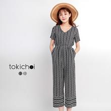 TOKICHOI - Printed Chiffon Jumpsuit-170890