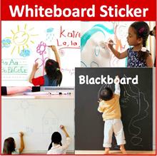 200cm*60cm Whiteboard Blackboard Sticker Wall Black board White board Free Marker Pen Free Chalks 89