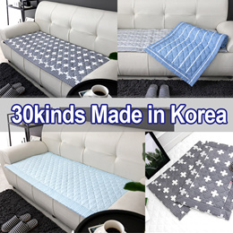 SOFA COVER Pad★ICE Cool Fabric★Floor Mat Set Non-Slip/Rug Couch Seat★30kinds 3/4 Person★Korea