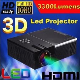 3300Lumens led digital video 1080P full hd projector HD TV multimedia Portable home projectors