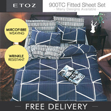 [ETOZ]  NEW DESIGNS! 950 TC Fitted Sheet Set★★Printed Bedsheet