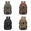 【TEEMI】Canvas Backpack Rucksack Outdoor Adventure Outing Camping Travel Laptop Bag