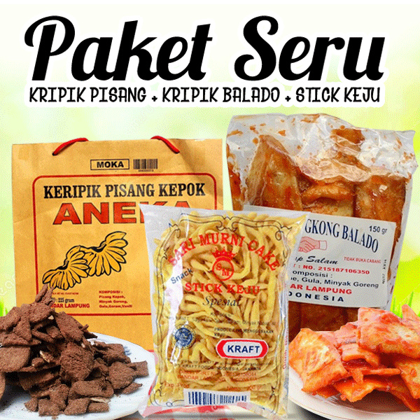 PAKET SERU Deals for only Rp75.000 instead of Rp75.000