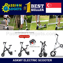 ★Local Seller★Passion ASKMY X1 Electric Scooter E-scooter E-bike Evo 300W Foldable Scooter!