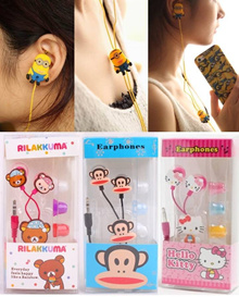 Cartoon Ear Piece (Earphone)for Handphones MP3 MP4 PSP Computers Laptop etc (Universal Jack 3.5mm)