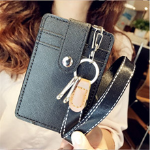 Christmas Gifts - Leather ID / MRT Card lanyard holder / Card holder / wallet  with keychain
