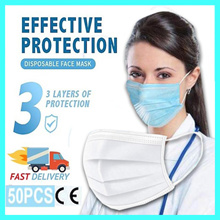 Disposable Mask White 50 Sheets 1box 3 Ply Disposable MASK (50pcs) 1box
