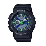 Casio Baby-G BA-110PP-1A Punching Series Neon Multicolour Dial Strap Watch