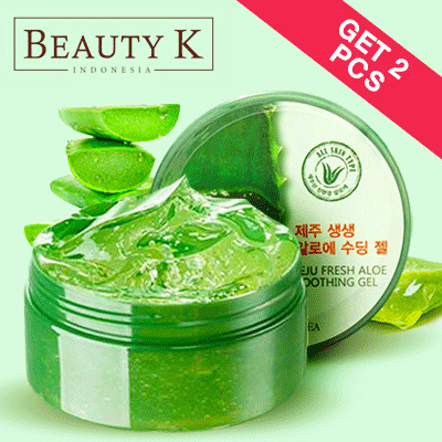 [ GET 2Pcs ] BeautyK Jeju Fresh Aloe Vera Shooting Gel 300 Ml Deals for only Rp59.000 instead of Rp95.161