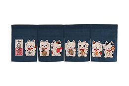 Made in Japan Shichifuku Manekineko Noren Curtain Tapestry by Narumi Japan