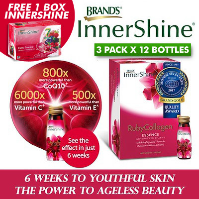 [GRAND GOLD QUALITY AWARD] BRAND'S® InnerShine® RubyCollagen Drink Deals for only S$203.6 instead of S$0
