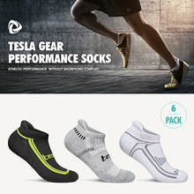 Tesla Sports Socks / 6 Pairs In 1 Pack / Performance sports socks / Hiking / Running / Gym / Fitness / Q10 Promotion