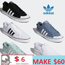 [ADIDAS] MAKE $60 / Apply Qoo10 $6coupon /  Flat price 7 Type NIZZA SHOES SNEAKERS