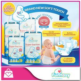 [Funtasy] NEW Super Suction Baby Diapers S/M/L/XL [USA Export Quality]