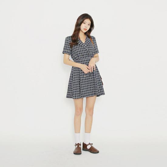 子供エムスリーのドロシー・チェックワンピース 綿ワンピース/ 韓国ファッション