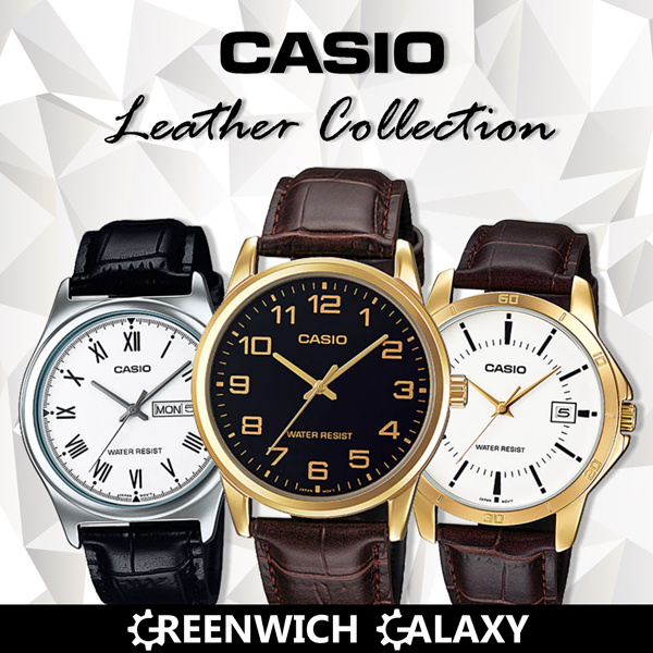 *CASIO AUTHENTIC* LEATHER DRESS WATCH SERIES Deals for only S$89 instead of S$0