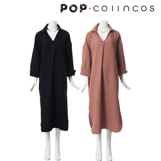 コインコーズバーバラ・ロングシャツ、ワンピースIT7AO301 面ワンピース/ 韓国ファッション