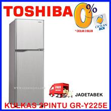 [FREE SHIPPING JADETABEK]TOSHIBA KULKAS 2 PINTU GR-Y225E 2 PINTU GLACIO