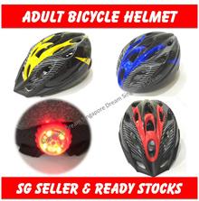 Bicycle Helmet with LED Light / Adult Bike Road Helmet / Safety / Design Streamline / Rollerblading