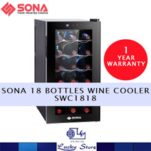 SONA 18 BOTTLES WINE COOLER * SWC1818 * LED DISPLAY WITH TOUCH CONTROL * 1 YEAR LOCAL WARRANTY