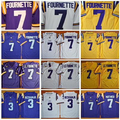 finest selection 643c1 1c87e LSU Tigers College Football Jerseys 7 Leonard Fournette 3 Odell Beckham Jr.  7 LE.FOURNETTE 7 Patrick