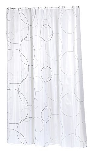 Carnation Home Fashions SC Fab ST Ava Stall Size Fabric Shower Curtain Multi