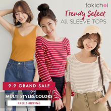 TOKICHOI - Grand Sale! Trendy Tops Multi Colors Multi Styles - Free Shipping
