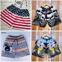 Bundle of 2_Men Boxer_Short Pants_Beach Pants_18 Motifs