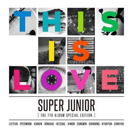 Super Junior - This is Love (Vol. 7 REPACKAGE) [Random Cover] CD+Poster