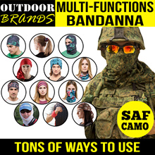 Multi Function Bandanna / Lots of Designs / Scarf / Head Gear / Biker Face Mask / SAF Camo