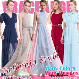 [Formal Dress]2018 New Designs Bohemia Style Maxi Dress S~XXXL Long Dress Plus Size evening dress