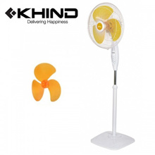 KHIND 16&quot  Stand Fan Smooth Oscillation 3 Speed ON/OFF Push Button Adjustable Height (SF1683)