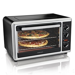 [HAMILTON BEACH] 31105 - 31105HB Countertop Oven with Silver, Black