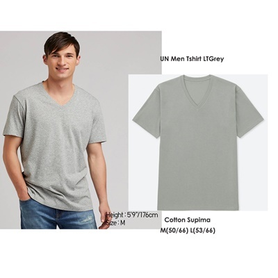 UN Men Tshirt Lt Grey