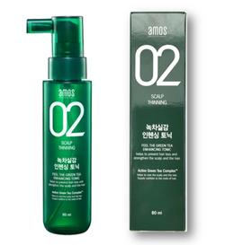 Amos Scalp 02 Feel the GREEN TEA Enhancing Tonic 80ml Hair loss care Korean Salon Brand Cosmetics